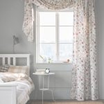 Cortinas Velux Ikea Nuevo A Floral Printed Curtain Hangs In A Window In A Bedroom. | Ikea