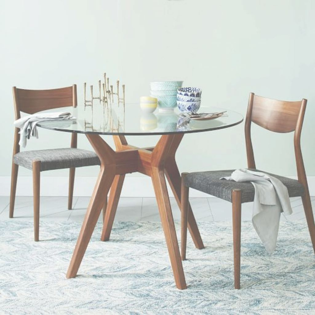 Glass Dining Table Genial Jensen Round Glass Dining Table | West Elm