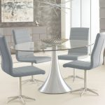 Glass Dining Table Inspirador Oval Glass Dining Table   Dwell