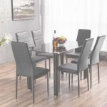 Glass Dining Table Moderno Lunar Rectangle Glass Dining Table & 6 Chairs Set | Furniturebox