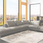 Grey Leather Sectional Elegante 5051 Modern Grey Leather Sectional Sofa