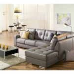 Grey Leather Sectional Elegante Artem Sofa 902511 Rs Grey Leather Sectional Need Lhf | Living Room