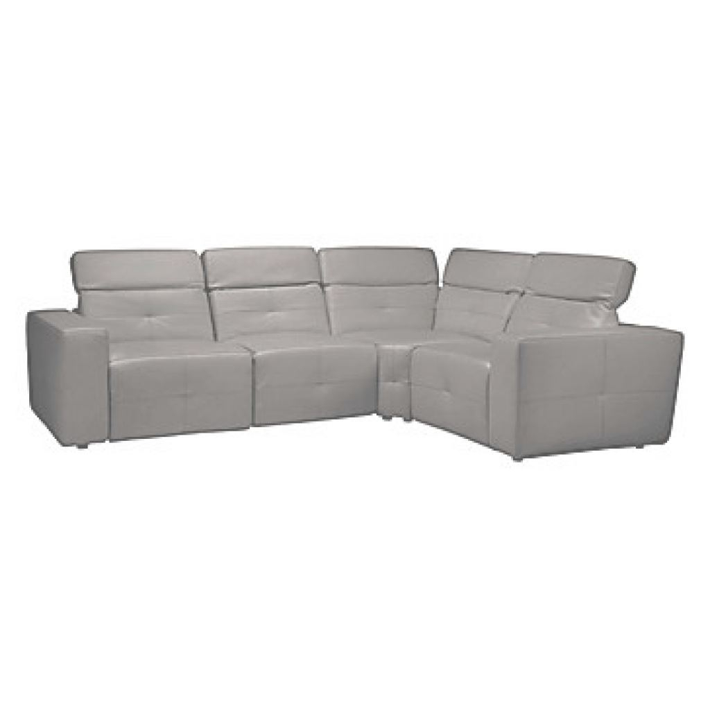 Grey Leather Sectional Encantador Milan Grey Leather Sectional | Z Gallerie