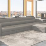 Grey Leather Sectional Genial Grey Leather Sectional Polaris Mini | Leather Sectionals