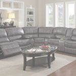 Grey Leather Sectional Increíble E Motion Grey Reclining Sectional With Console Kian Usa