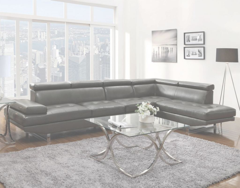 Grey Leather Sectional Inspirador Grey Leather Sectional Sofa - Steal-A-Sofa Furniture Outlet Los