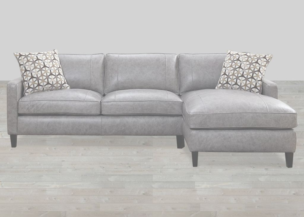 Grey Leather Sectional Moderno Dark Grey Top Grain Leather Sectional With Accent Pillow