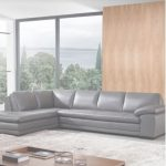 Grey Leather Sectional Nuevo Grey Leather Sectionals You'll Love | Wayfair