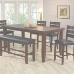 High Dining Table Mejor De Unique Espresso Counter High Dining Table W/4 Chairs And Bench