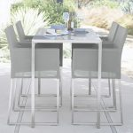 High Dining Table Nuevo Dune Tall Taupe Painted Glass Dining Table + Reviews | Crate And Barrel