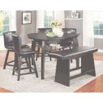 High Dining Table Único Shop Furniture Of America Karille Modern Black Counter Height Dining