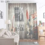 Ideas De Cortinas Inspirador Yo Cho 3D Window Curtain Guitar Cortinas Blackout For Livingroom