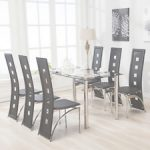 Kitchen Table Sets Increíble 5 Piece Dining Table Set Black Glass 4 Chairs Seats Dinette Kitchen
