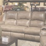 Leather Reclining Sofa Increíble Livingston Power Leather Reclining Sofa With Drop Down Table