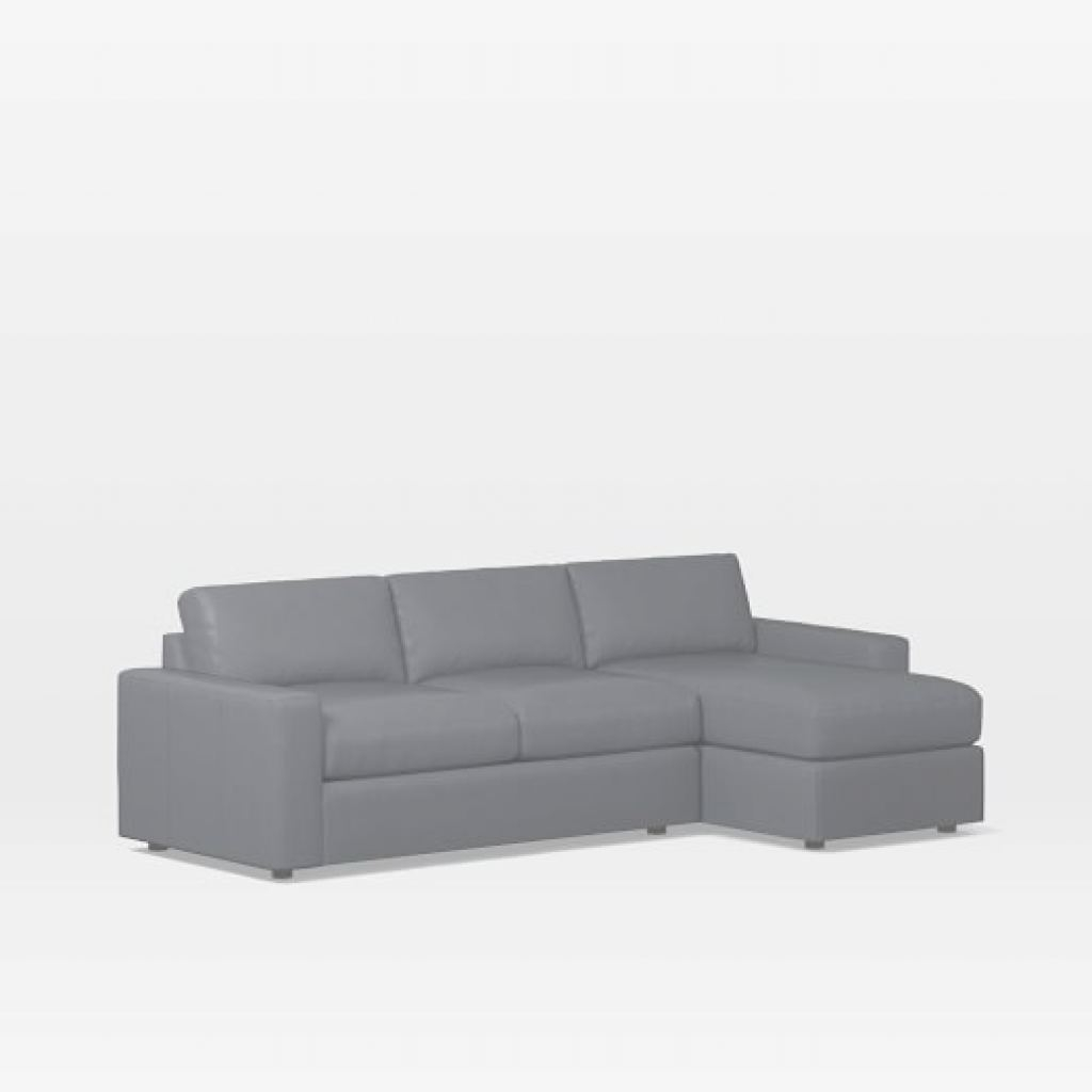 Leather Sectional Sleeper Sofa Moderno Urban Leather Sleeper Sectional W/ Storage | West Elm
