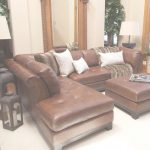 Leather Sectional Sofa Genial Tufted Leather Sectional Sofa In Bourbon With A Hardwood Frame