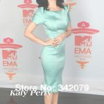 Medidas De Katy Perry Nuevo Ph11012 Katy Perry Ewa Zac Posen2014 Shorts Mangas Cuello Redondo