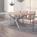Modern Dining Table Mejor De Large Georgio Modern Chic Rustic Metal & Wood Dining Table 8 10 12