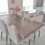 Modern Dining Table Mejor De Modern Wood Dining Table, Natural Edges, Stainless Steel