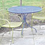 Outdoor Patio Furniture Iron Moderno Spray Painted Brightly Colored Wrought Iron Patio Furniture Makeover