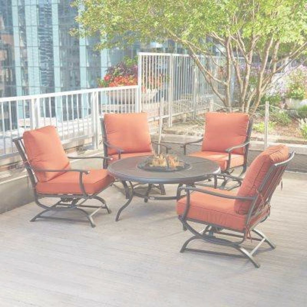 Outdoor Patio Furniture With Fire Pit Elegante Hampton Bay - Red - Fire Pit Sets - Outdoor Lounge Furniture - The
