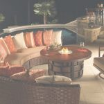 Outdoor Patio Furniture With Fire Pit Encantador Fire Pit Table // Wicker   Wicker