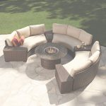 Outdoor Patio Furniture With Fire Pit Increíble Modern Outdoor Wicker Circular Patio Sectional With Stone Top Fire