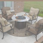 Outdoor Patio Furniture With Fire Pit Moderno Amalia 4 Person Luxury Cast Aluminum Patio Furniture Chat Set W/fire