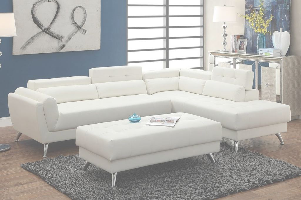 White Leather Sectional Elegante White Leather Sectional Sofa - Steal-A-Sofa Furniture Outlet Los