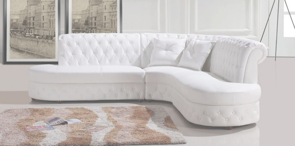 White Leather Sectional Hermoso Divani Casa 2818C Modern White Leather Sectional Sofa