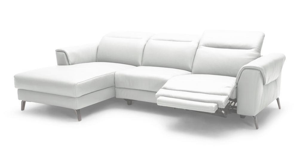 White Leather Sectional Hermoso Divani Casa Mosley Modern White Leather Sectional Sofa W/ Recliner
