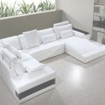 White Leather Sectional Lujo Vig Furniture Diamond Modern White Leather Sectional Sofa With Lights