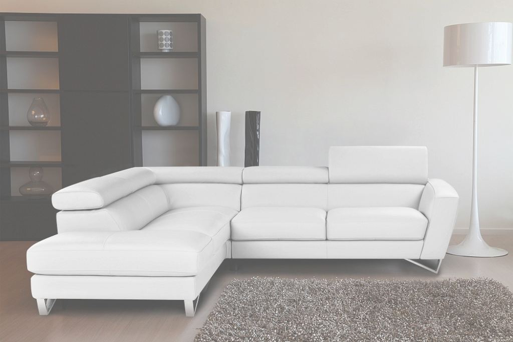 White Leather Sectional Mejor de Sparta Italian Leather Sectional Sofa In White Color | Nicoletticalia
