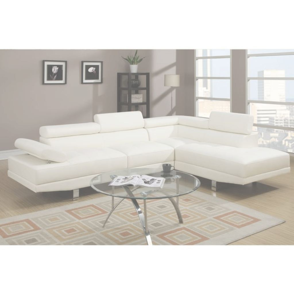 White Leather Sectional Nuevo Shop Pomorie White Faux Leather Sectional Sofa Set - Free Shipping