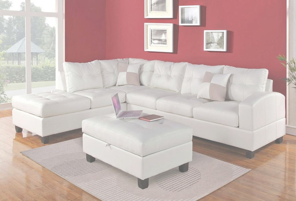 White Leather Sectional Único Bailey White Leather Sectional Sofa
